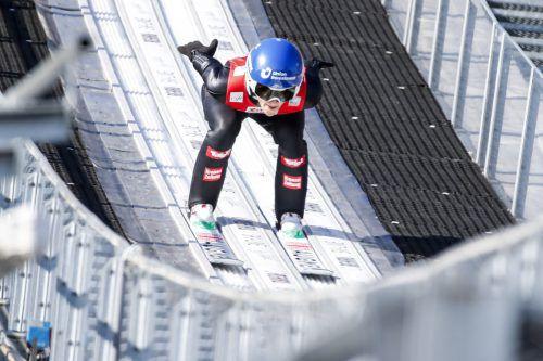 In der Qualifikation war Eva Pinkelnig schon bei den Besten.gepa