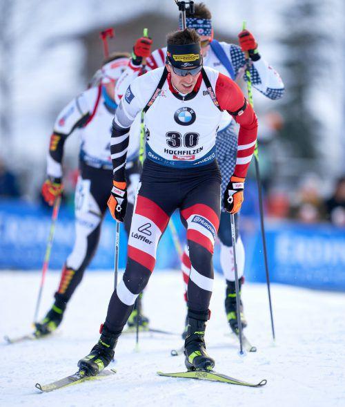 Julian Eberhard soll Österreich bei der Biathlon-Weltmeisterschaft in Antholz Edelmetall bescheren.apa