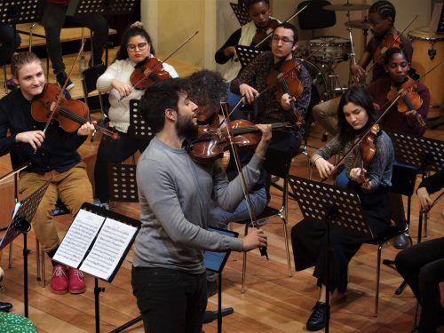 Junge Musiker aus verschiedenen Ländern in Feldkirch. ju