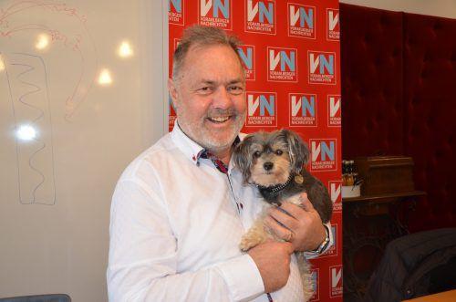 Karlheinz Koch mit Hund Coco.VN/GER