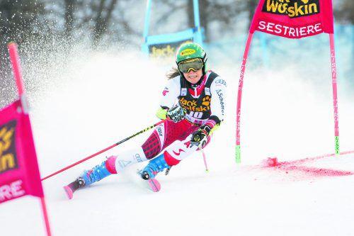 Katharina Liensberger freut sich nach 27 Tagen Rennpause auf den nächsten Einsatz am Wochenende in Kranjska Gora. gepa