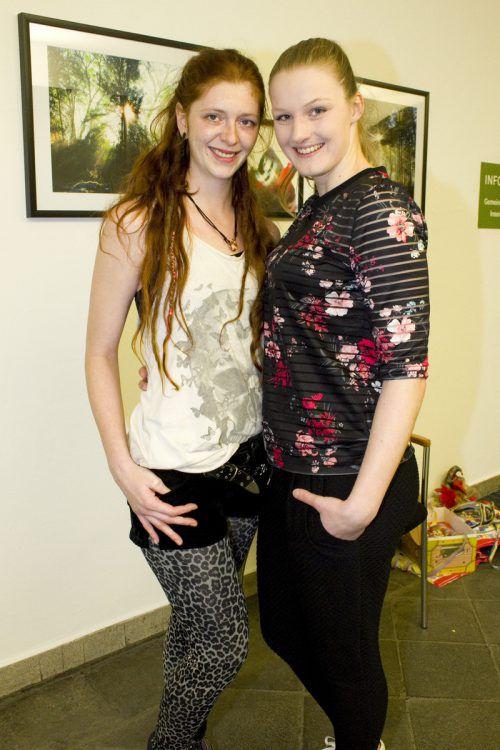 Kerstin Jaquemond (l.) und Larissa Lußnig zeigten sich von ihrer besten Seite.
