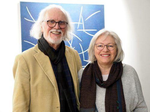 Künstler Hugo Ender und Traudl Fend waren begeistert.