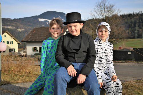 Kurze Verschnaufpause für Ignaz, Artur und Xavier.