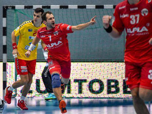 Luca Raschle erzielte wenige Sekunden vor Spielende die endgültige Entscheidung.gepa