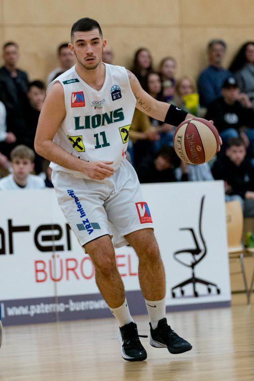 Luka Krevic und Co. fordern heute die Panthers aus Fürstenfeld.Stiplovsek