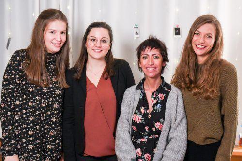 Mädchentreff: Anna Schmidinger, Katharina Kohler, Yasemin Polat und Martina Nachbaur. OJAD