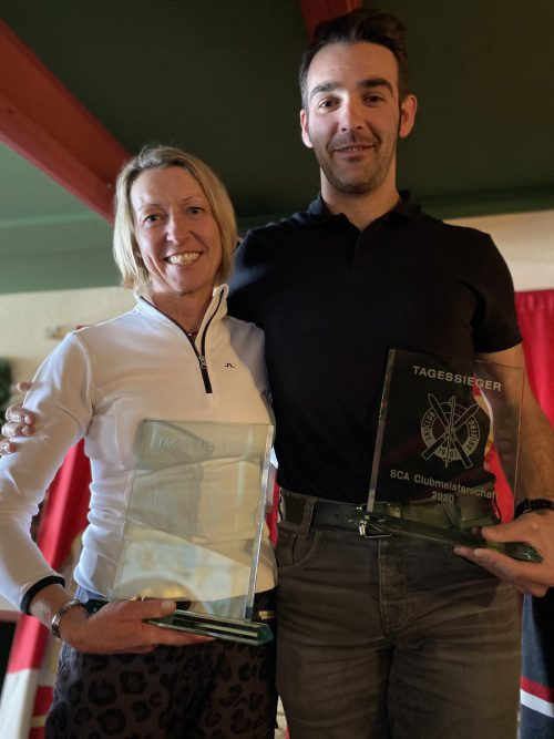 Manuela Gell und Mario Wachter sind die neuen Clubmeister. SCA