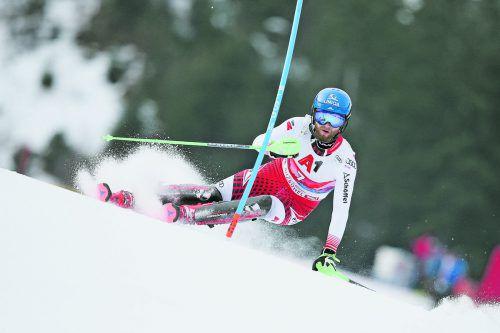 Marco Schwarz trägt in der Weltcup-Kombination in Hinterstoder die Hoffnungen der österreichischen Skiherren. gepa