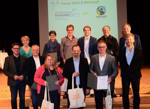 Neben der Gemeinde Mäder wurden auch Vorarlberger Unternehmen für ihre Gemeinwohlbemühungen ausgezeichnet. gemeinde