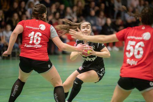 ÖHB-U-20-Teamspielerin Beatrix Kerestely überzeugte als Vollstreckerin und Assistgeberin von SSV-Topskorerin Marie Huber. VN/Sams