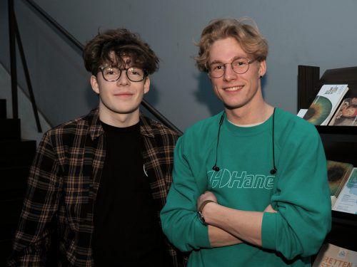 Paul Pichler und Felix Burtscher studieren im Jazzseminar.