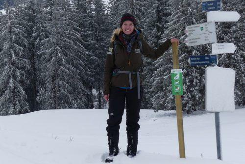 Rangerin Lisa Klocker unterstützt seit Februar das Team des Naturparks.