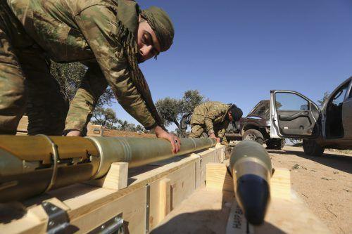 Rebellen bereiten einen Angriff auf Assads Truppen vor.AP