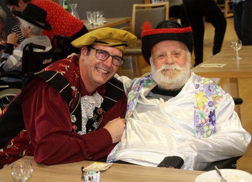Ritter Andreas und Walter Berkmann feierten zusammen Fasching.