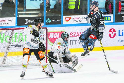 Robin Gartner und Juha Järvenpää standen in Szekesvehervar gegen Csanad Erdely und Co. mächtig unter Druck. Etele/Fehérvár