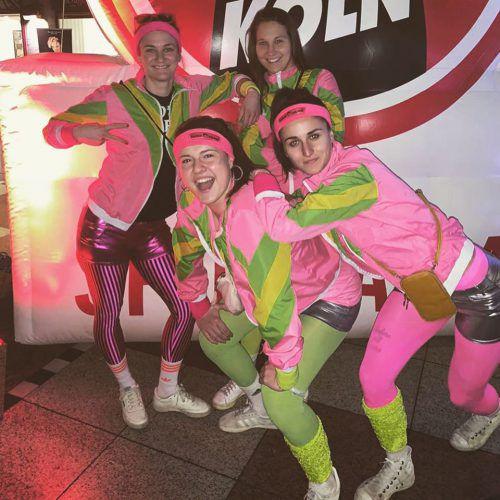 Sabrina Horvat (hinten rechts) und ihre Teamkolleginnen hatten Spaß.privat