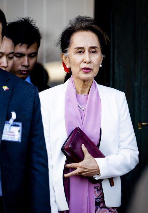 Seit der Verfolgung der Rohingya in Myanmar steht Suu Kyi in der Kritik. AFP