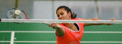 Serena Au Yeong holte bei der Badminton-Staatsmeisterschaft Gold im Damendoppel und wurde Vizemeisterin im Mixed.VN/Lerch