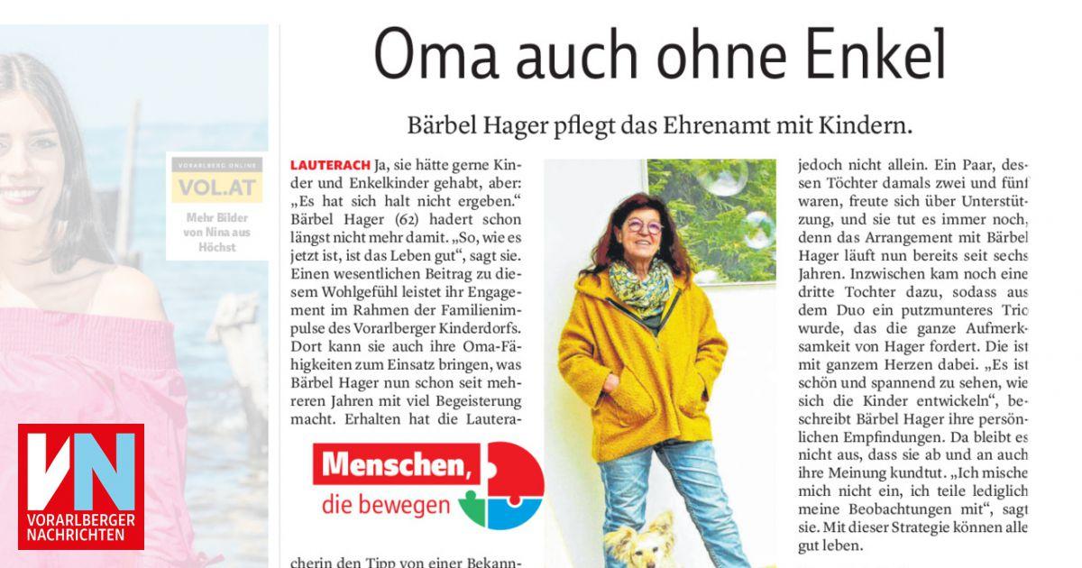 Oma auch ohne Enkel - Vorarlberger Nachrichten   VN.AT