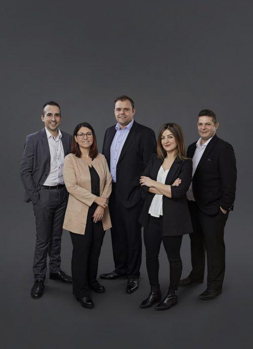 SPÖ-Spitzenteam: Dominik Steinwidder (v.l.), Severine Engel, Markus Fäßler, Banu Sevgi, Attila Sönmez. SPÖ