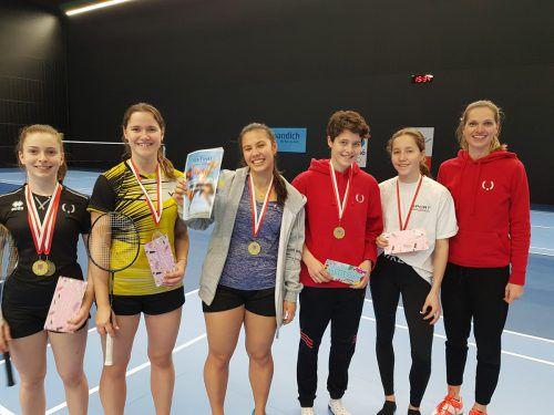 Sportgymnasium Dornbirn (v. l.): Johanna Doppelreiter, Lena Kremmel, Serena Au Yeong, Raphaela Tutschek, Noemi Büchel und Elisabeth Obernosterer.Privat