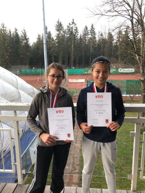 Tabea Traebert (l.) und Sydney Stark spielten bei der U16-Landesmeisterschaft im Tennis groß auf. Verein