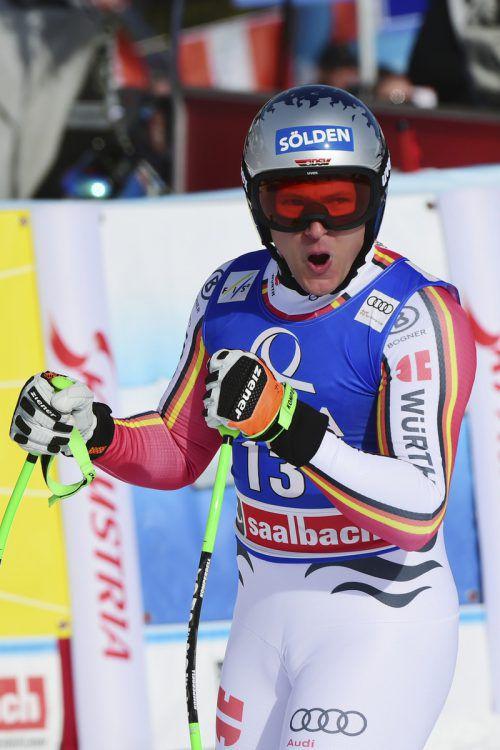 Thomas Dreßen feierte in Saalbach bereits seinen dritten Saisonsieg. ap