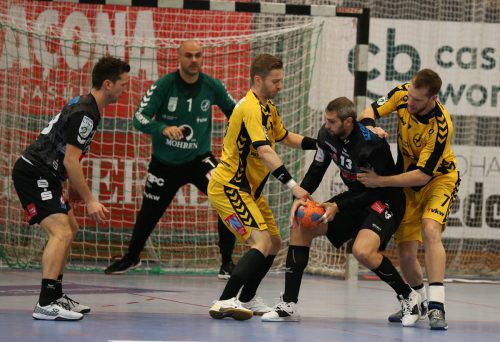 Trotz eines beherzten Auftritts unterlagen die Bregenzer Handballer im Cup-Achtelfinale bei Schwaz mit 27:31-Toren.Hartinger