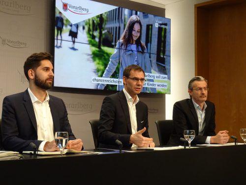 V. l.: BIFO-Geschäftsführer Andreas Pichler,Landeshauptmann Markus Wallner und WISTO-Chef Joachim Heinzl stellten Programm vor. VLK