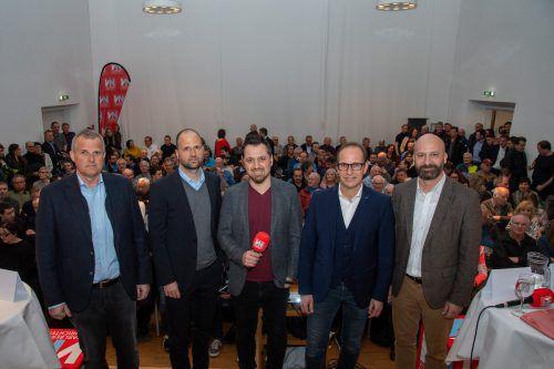 V. l.: Christian Reich, Marco Tittler, Michael Prock, Dieter Egger und Rupert Grienberger.
