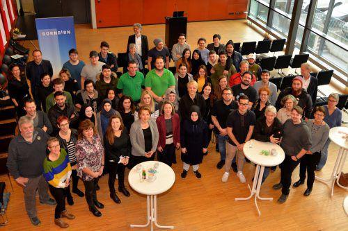 50 größtenteils ehrenamtliche Mitarbeiter der Jugendarbeit waren auf eine Feier ins Dornbirner Rathaus eingeladen. stadt