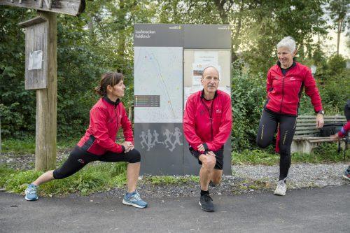 87 Kilometer Laufvergnügen warten auf alle Bewegungshungrigen – zur besseren Orientierung nun mit Beschilderung.Laufsportverein Feldkirch