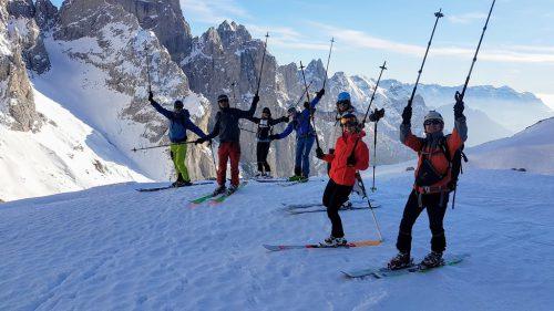 Abenteuer auf Ski in den Dolimiten. Naturfreunde