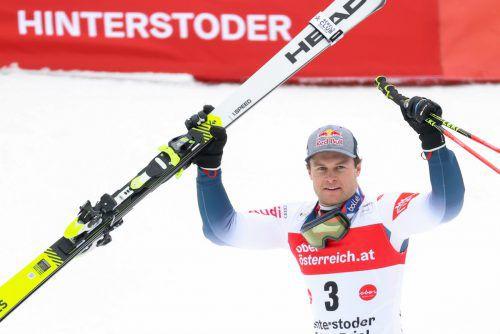 Alexis Pinturault sammelte bei den drei Rennen in Hinterstoder insgesamt 250 Punkte für die Weltcupwertung.gepa
