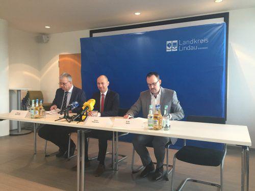 Am Mittwoch lud das Landratsamt Lindau zur Pressekonferenz.