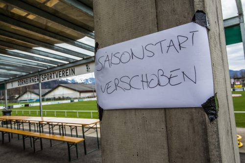 Am Sportplatz Haselstauden hätten die VN.at-Regionalliga West starten sollen, nunmehr ist der Fußballbetrieb bis Anfang April eingestellt.steurer