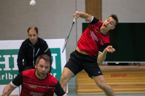 Andraz Krapez und Rene Nichterwitz vom UBSC Wolfurt waren sowohl im Doppel als auch im Einzel vom BC Feldkirch nicht zu bezwingen. Steurer