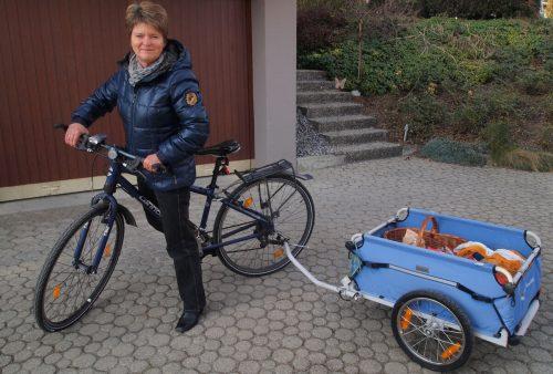 Neue Aktion der Gemeinden der Energieregion Vorderwald: Ein Fahrrad mit Lastenanhänger ersetzt den Einkauf mit dem Auto. me