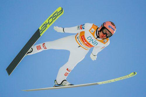 Auch wenn es für Stefan Kraft nicht optimal lief, seine Führung im Weltcup ist derzeit nicht in Gefahr.Reuters