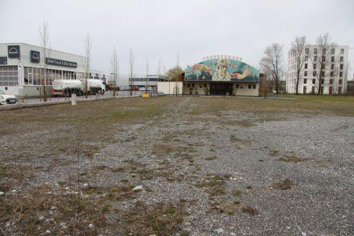 Auf dem Gelände an der Dornbirner Straße wird kein Lkw-Kontrollplatz gebaut.VOL.AT/Mayer