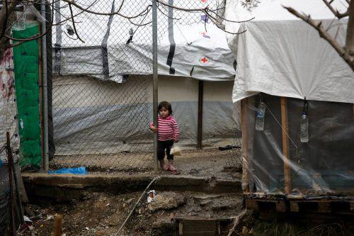 Auf der griechischen InselLesbos befindet sichmit Moria das größte Flüchtlingslager Europas.Schätzungen zufolge leben dort derzeit 23.000 Flüchtlinge.RTS