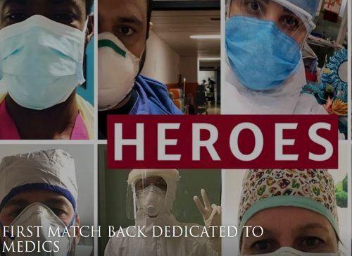 Auf der Homepage der AS Roma ehrt man Ärzte und Krankenschwestern.asroma