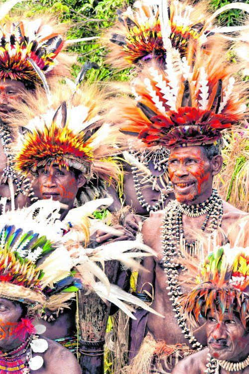 Beim jährlichen Festival in Goroka präsentieren die Stämme ihren Körperschmuck.