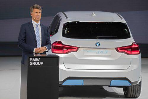 Bis Ende 2021 will BMW fünf vollelektrische Modelle auf dem Markt haben, u.a. den iX3. AFP