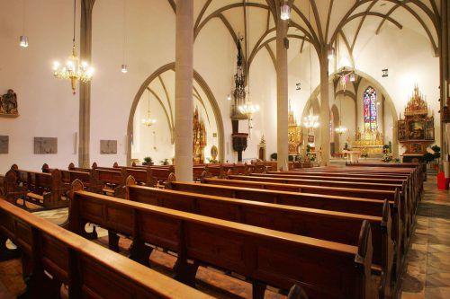 Bis inklusive 27. März bleiben die Kirchen leer, auch der Feldkircher Dom. Sie sind zwar offen, Gottesdienste aber abgesagt.