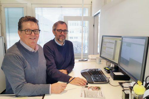 Bürgermeister Christian Natter und Gemeindefinanzchef Gerald Klocker bei der Erstellung des Voranschlags 2020.H. Pfarrmaier