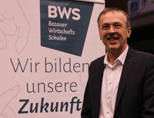 BWS-Direktor Mario Hammerer sieht die Bezauer Schule in der Corona-Krise gut aufgestellt. STRAUSs