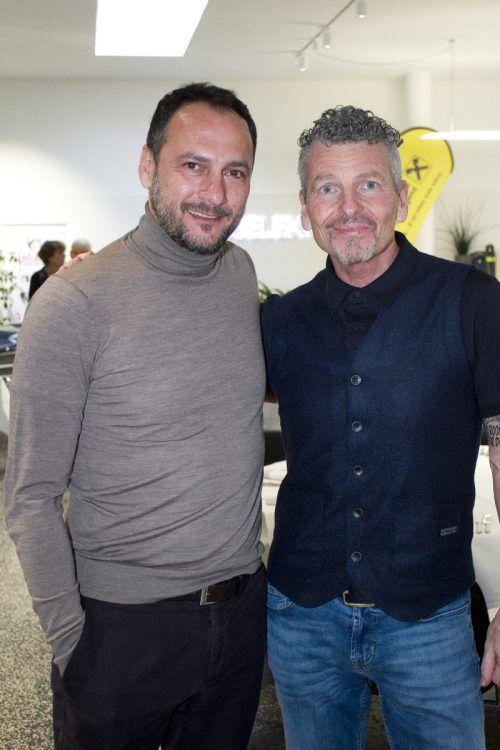Christian Möckel (l.) mit Trainerlegende Mathias Berthold.