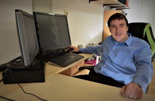 Daniel Kolb war fast jeden Tag im Büro in Höchst – bis sich das Corona-Virus im Land eingenistet hatte.